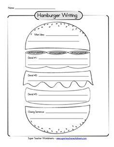 Free Printable Hamburger Paragraph TemplateOMG..taught this way