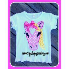 Holly the Happy Heart Horse Applique Design / Applique Junkie
