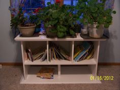 Book shelf, plant holder all in one - My Valentines Day gift from my husband.
