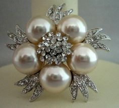 pearl and rhinestones