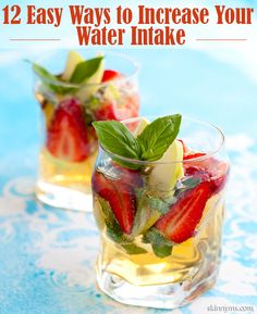 Strawberry Basil Water is just one of the ways to easily increase your water intake. Try these and stay hydrated! #water #h20 #healthyideas