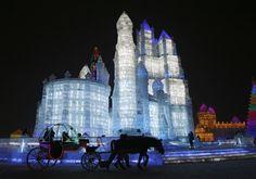 Ijs sculpturen in China