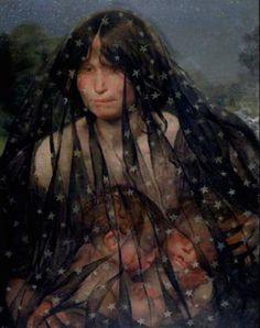 authenticfauxhemian:  Léon Frédéric (Belgian symbolist painter) 1865 - 1940Allegorie van de Nacht (Allegory of Night), 1891oil on canvas54.5cm x 70cm.Museum of Fine Arts, Ghent, Belgium