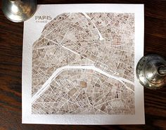 {watercolor Paris map}