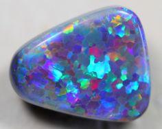 Black Opal Stones 17.5 x 14.4 x 7.06mm 11.48 carats Auction #604970 Opal Auctions