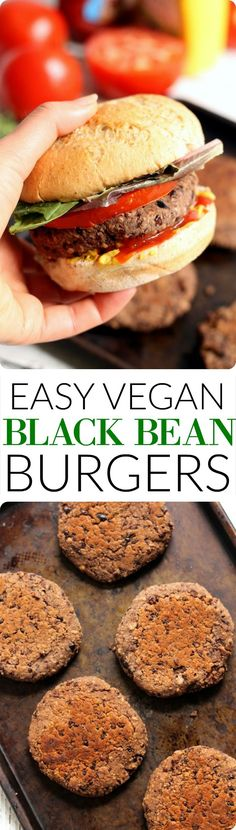 The Easiest Vegan Black Bean Burgers--no chopping or food processor required!