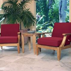 Laguna 3 pc Lounge Set features two Laguna Teak Armchairs and one Laguna Teak Side Table. All our Teak furniture is backed by our Lifetime Warranty. Teak Outdoor Furniture, Lounge Furniture, Home Decor Furniture, Outdoor Chairs, Lounge Chairs, Desk Chairs, Office Chairs, Furniture Projects, Modern Furniture