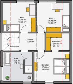 Grundriss Dachgeschoss Camaro - Fertighaus - Büdenbender Hausbau