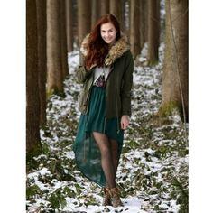 Women Asymmetric Chiffon Front Short Back Long New Style Green Short... ($9.81) via Polyvore