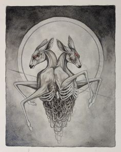 """Fracture"", an 8"" by 10"" piece, available at Antler Gallery in Portland for the ""tooth and nail"" show. www.antlerpdx.com"