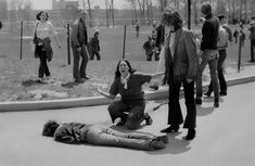 John Silo's Pulitzer Prize winning photo of the Kent State shootings...Ohio, 1970