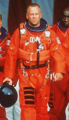 Bruce Willis in Armageddon another of the 90's memories.