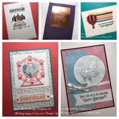 Ellen Woodbridge Independent Stampin' Up!® Demonstrator - Central Coast NSW Australia: Carousel Birthday and Cupcakes & Carousels - Occasions Catalogue 2017 #stampinup