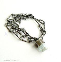 bracelet sterling silver crystal by jolantakrajewska