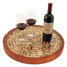 Craft Projects Using Wine Corks | cork display tray with glass top what a great project to use the corks ...