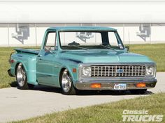 1971 Chevrolet - Classic Trucks Magazine All Pages Chevy C10, 72 Chevy Truck, Chevy Pickups, Chevrolet Trucks, Lowered Trucks, C10 Trucks, Dropped Trucks, Jeep Wrangler Tj, Classic Trucks Magazine