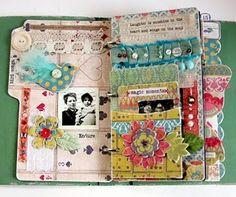 Artist's journal--interesting ribbon idea