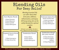 Blending Young Living Essential Oils amplifies their healing and soothing abilities! http://www.yldist.com/a2z4health/