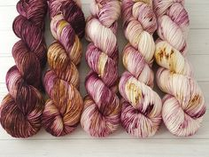 Hand dyed Vinyard Fade MCN sock yarn So Faded