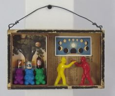 Which way did they go? mixed media assemblage art
