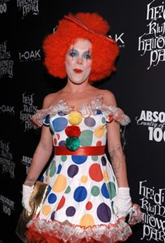 Take some costume tips from these celebrities. Ideas range from clowns to Adam Ant!