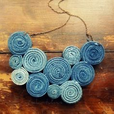 Recycled Levi's necklace.