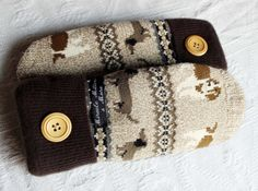sweater mittens wool mittens dachshund beagle by miraclemittens, $38.00