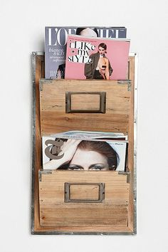 Waiting Room Magazine Rack. I want my small space to be AWESOME. I entered the #UrbanOutfitters Pin A Room, Win A Room Sweepstakes! #smallspace
