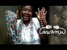 awamu video - Sarah shows you how she make recycled paper beads.mov - YouTube