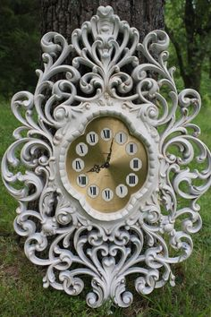 Vintage Large Ornate Wall Clock.