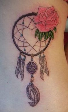 #dreamcatcher #tattoo #rose #celticknot