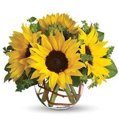 a sunflower center piece, so pretty