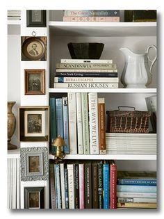 Lessons in Design :: Bookshelf Styling - Fieldstone Hill Design