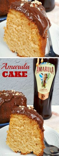 Amarula Cake is a soft, fluffy and Amarula-Cream drenched cake - absolutely decadent served at tea time or as an everyday dessert ! Best Dessert Recipes, Easy Desserts, Sweet Recipes, Delicious Desserts, Yummy Recipes, Decadent Cakes, Cupcake Cakes, Bundt Cakes, Cupcakes