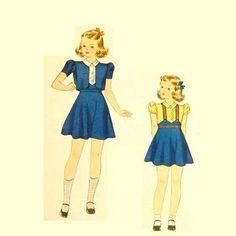 Vintage 1930s Girls Suit Pattern Jacket by RebeccasVintageSalon, $10.00