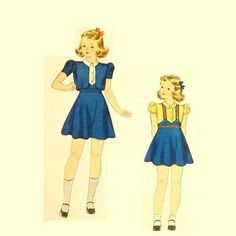 Vintage 1930s Girls Suit Pattern Jacket by RebeccasVintageSalon, $10.00
