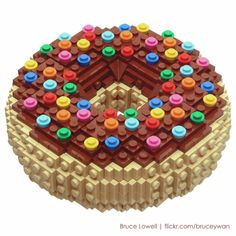 LEGO: Donut with Sprinkles by Bruce Lowell