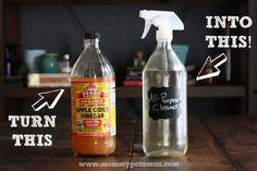 DIY Glass Spray Bottle Tutorial (And A Recipe For All-Purpose Cleaner) – MommypotamusMommypotamus  