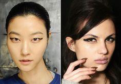 Fashion Week Beauty Trend: Block-Shaped Eyeliner  #InStyle