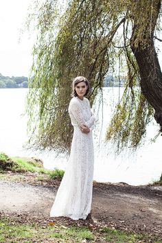 the beautiful corvette dress can be made to order in white lace | juliette hogan