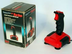The QuickShot II Turbo, is a digital joystick for the VIC and Amiga made by the company SpectraVideo. This joystick has contact switches, suction-cups and auto-fire. 1970s Childhood, My Childhood Memories, Vintage Toys, Retro Vintage, Video Vintage, Good Old Times, Retro Video Games, School Games, 80s Kids