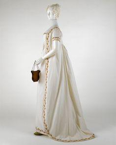 Regency gown (Jane Austen eat your heart out! Old Dresses, Vintage Dresses, Vintage Outfits, Vintage Fashion, Corset Dresses, Historical Costume, Historical Clothing, Jane Austen, Regency Dress