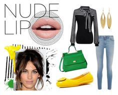 """""""nude lip and bright colors"""" by north40designs ❤ liked on Polyvore featuring beauty, Givenchy, Nevermind, Tory Burch, C.R.A.F.T., Dolce&Gabbana, Kenneth Jay Lane, jeans, CasualChic and nudelip"""