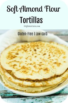 These Almond Flour Tortillas are super soft pliable wraps great for tacos, burritos, sandwich wraps and so much more. Even great just plain. Almond Flour Tortilla Recipe, Recipes With Flour Tortillas, Almond Flour Recipes, Low Carb Tortillas, Almond Flour Baking, Corn Flour Recipes, Corn Tortilla Recipes, Coconut Flour Tortillas, Cauliflower Tortillas