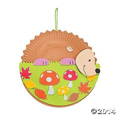 Paper Plate Hedgehog Craft Kit are fun crafts for preschoolers or younger crafts due to the easy to handle self-adhesive foam pieces. $10 for 12 crafts