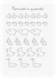Cornicette Per Bambini Foto Mamma Pourfemme Avec - The Baltic Post Blackwork Patterns, Blackwork Embroidery, Doodle Patterns, Cross Stitch Embroidery, Cross Stitch Patterns, Graph Paper Drawings, Graph Paper Art, Bullet Journal Key, Quilt Border