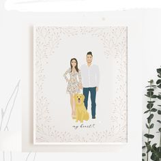 I'd like to share with you you guys another family illustration that I created couple months ago. I hope you like this one as well !  You can order yours by finding my store's link in the bio. Please don't hesitate to contact me via my store messages if you have any question.    #weddinggift #coupleportrait #coupleillustration #familyillustration #homewarminggift #gift #bridalgift #illustration #weddingdress #familyportrait #coupleportrait #nurserydecor #homedecoration #decor… Pet Portraits, Wedding Portraits, Family Portraits, Wedding Illustration, Family Illustration, Bridal Gifts, Wedding Gifts, Cute Anniversary Gifts, Wedding Guest Book Alternatives