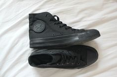 converse..... these ones exactly. all black my favorite!
