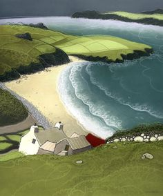 Porthmawr by Chris Neale, Welsh, landscape artist