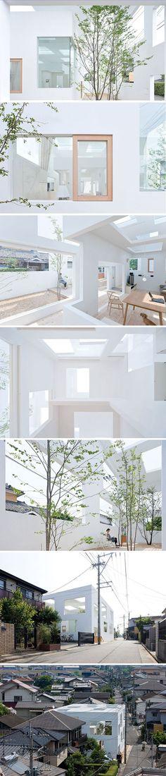 充滿春天氣息的白色房子